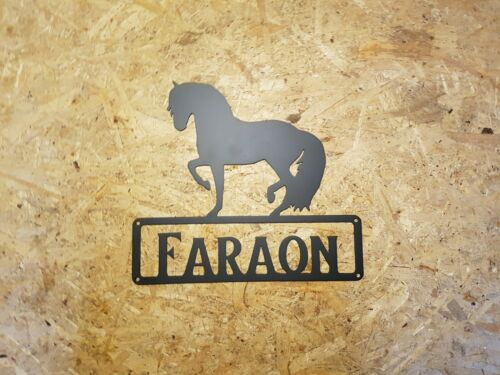 P.r.e with desired text Powder Coated Spanish Horse Andalusian Boxing Shield