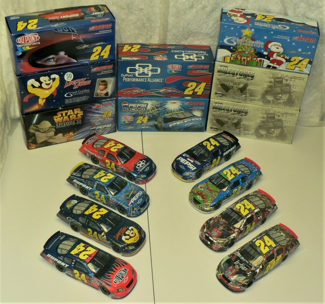 NASCAR - JEFF GORDON - Lot of 8 (2005) Limited Collectable Cars by ACTION Racing