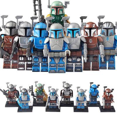 Star Wars The Mandalorian Battle Armor Boba Fett Minifigure Toy Figure Set 8 pcs