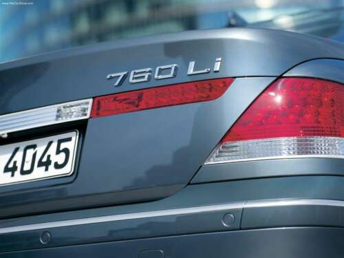 BMW NEW GENUINE E65 7 SERIES 760Li TRUNK BADGE EMBLEM LOGO 7148196