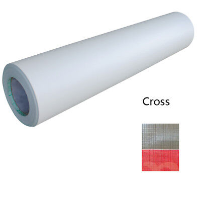 Cross Pattern 0.69x31Yard 3Mil Adhesive Cold Laminating Film Free Shipping