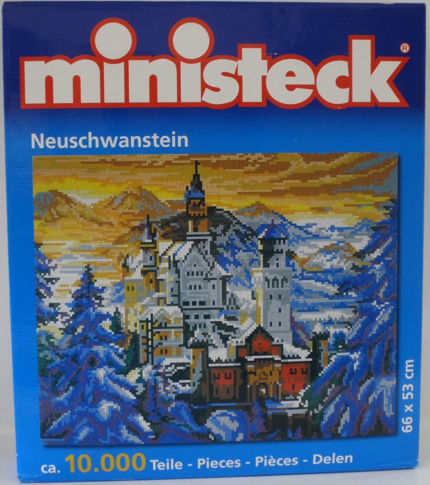 NEU ministeck 31832 Schloss Neuschwanstein ca. 10.000 Teile 66x53 cm OVP