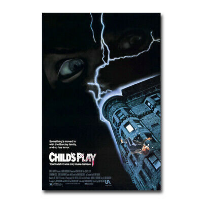 Child/'s Play Movie 2019 Chucky Horror Film 2 Art Silk Canvas Poster Print 24x36/'