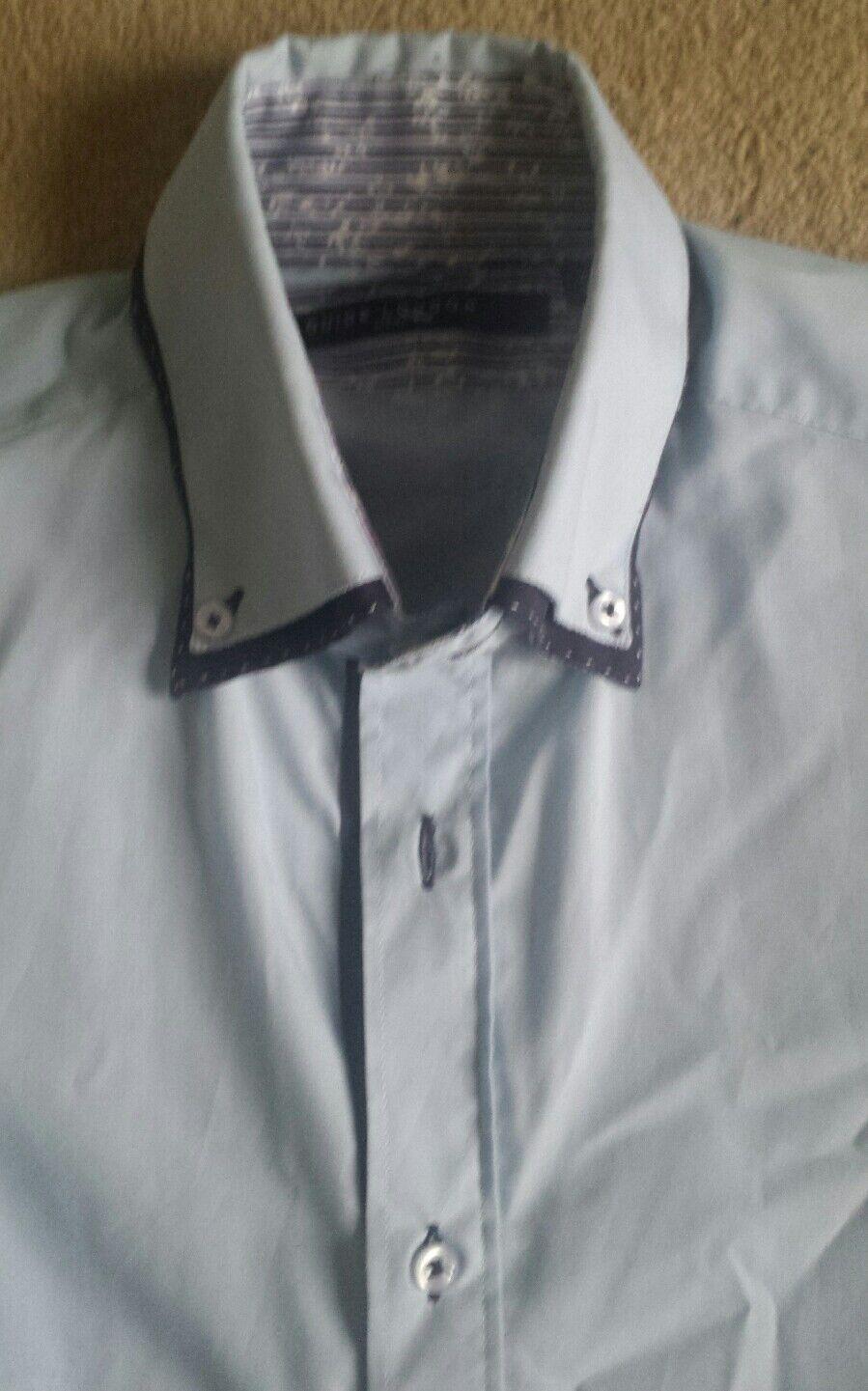 GUIDE London Doppio Doppio Doppio Colletto Camicia Blu S Prezzo Consigliato 77ede4