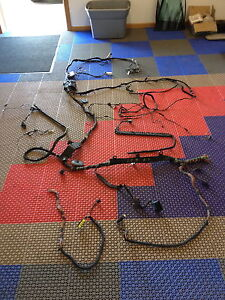 s l300 bmw e60 m5 main wire harness interior trunk section cut wires smg