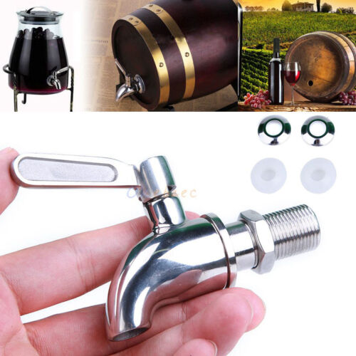 Stainless Steel Beverage Drink Water Dispenser Wine Barrel Spigot//Faucet//Tap