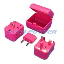 Pink Universal Travel Plug Power Outlet Socket Adapter Converter US UK EU AU
