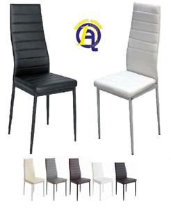 Set 4 sedia tavolo per sala da pranzo cucina eleganti moderne robusto ecopelle