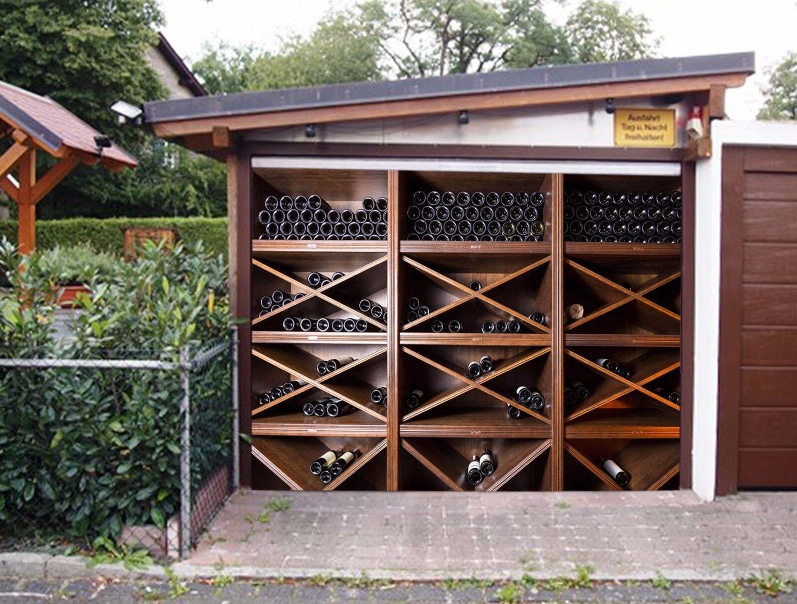 3D Wine Cabinet 5 Garage Door Murals Wall Print Decal Wall AJ WALLPAPER AU Lemon