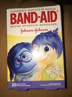 Disney Pixar Inside Out Band Aids Bandages 20 In Pack 3 Motives Kids 2 Sizes