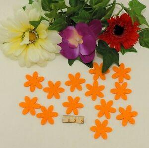 Details Zu 6 Blättrige Blume Streuteil Filz 13 Stück 3cm Orange Basteln Geschenk Deko