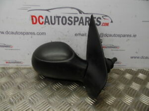 GENUINE-2001-PEUGEOT-206-BLACK-O-S-OFFSIDE-RIGHT-DOOR-WING-MIRROR-MANUAL-1