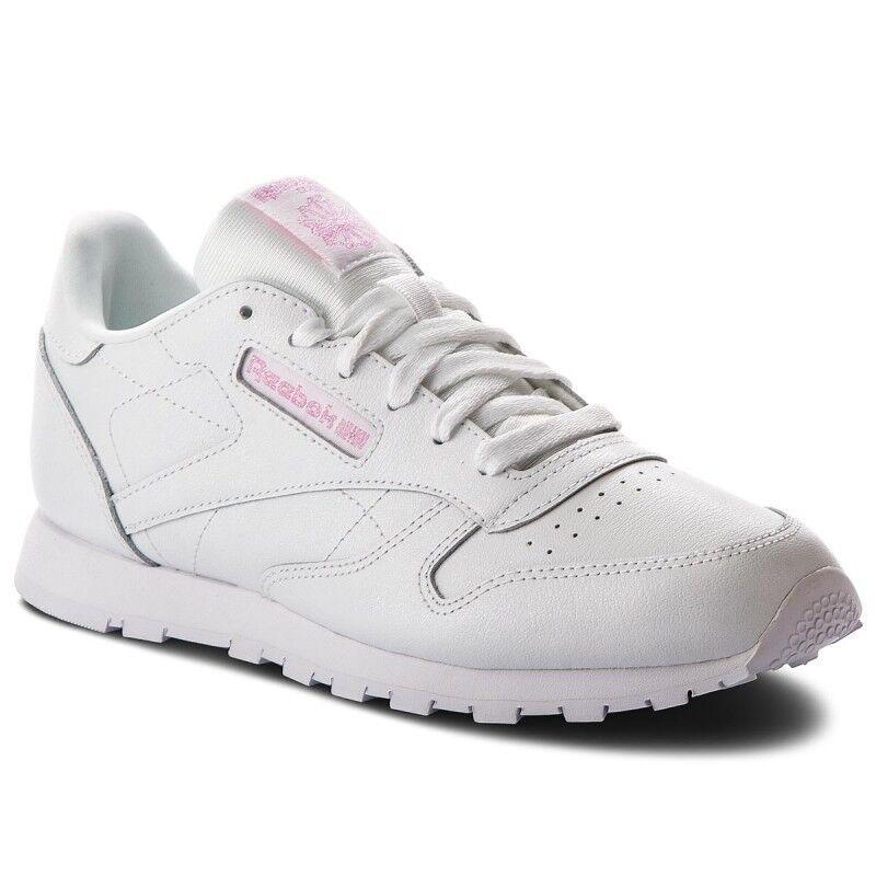 Reebok Classic Leather metallic cm9323 cm9323 cm9323 Femmes Baskets Chaussures De Sport Blanc Nouveau dfb5bb
