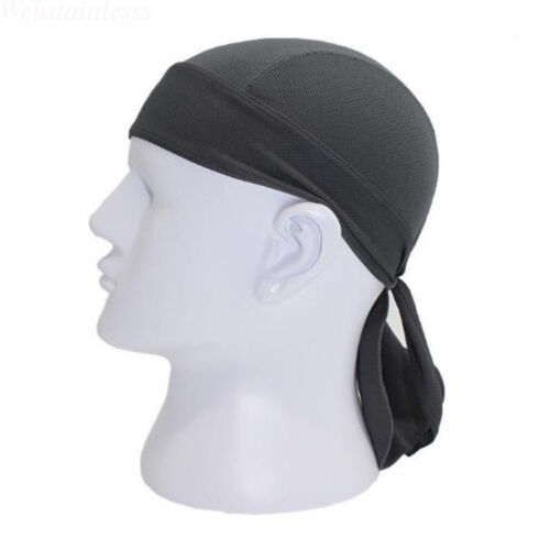 Mens Womens Biker Skull Cap Motorcycle Bandana Head Wrap Du Doo Do Rag Black Hat