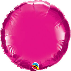 HOT-PINK-ROUND-BALLOON-18-034-METALLIC-MAGENTA-PLAIN-QUALATEX-FOIL-BALLOON