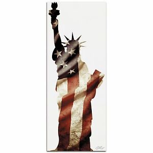 LADY-LIBERTY-Contemporary-Patriotic-Metal-Art-NYC-Statue-of-Liberty-Flag-Artwork