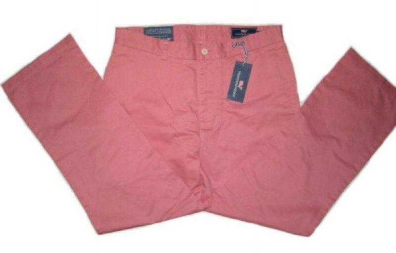 VINEYARD VINES Men's Classic Fit Club Pants, Size 33x30, NWT, Rhubarb