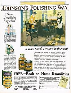 1920s-BIG-Vintage-Johnson-039-s-Polishing-Wax-Maid-Period-Interior-Art-Print-Ad