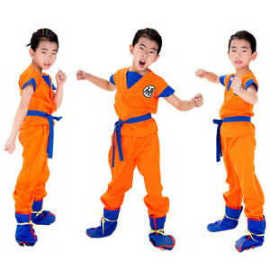 KIDS DRAGON BALL Son Goku Kung Fu Set Cosplay Costume Super Saiyan Children