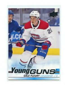 2019-20-UD-Series-1-Young-Guns-YG-209-Cale-Fleury-Montreal-Canadiens