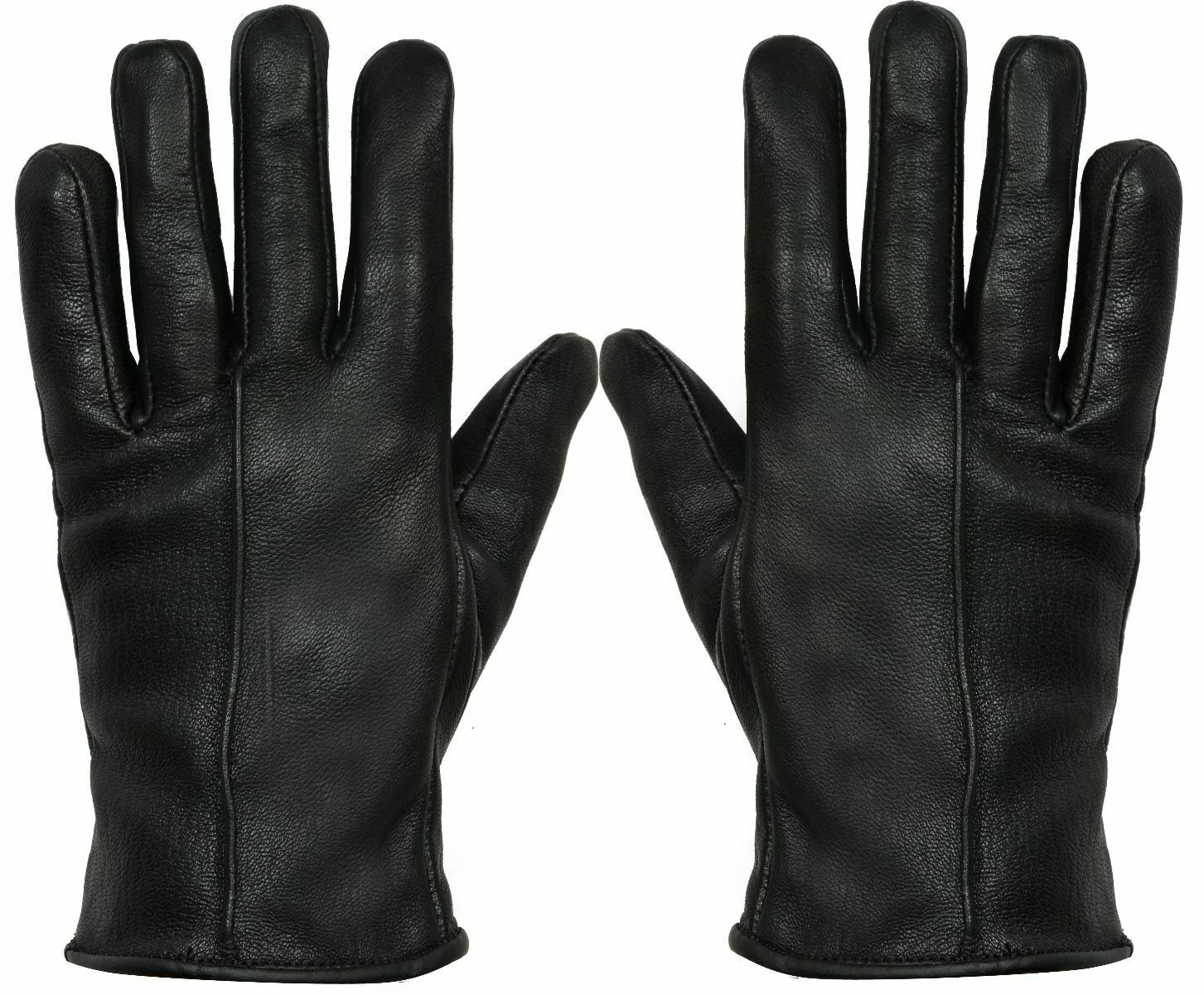 Women Genuine Nappa Leather Gloves Thermal Lined Driving Winter Classic Black