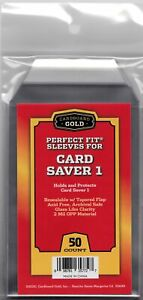 CBG Max Pro Perfect Fit Cover Sleeves Snug Fit for Card Saver 1 - 50ct Pack