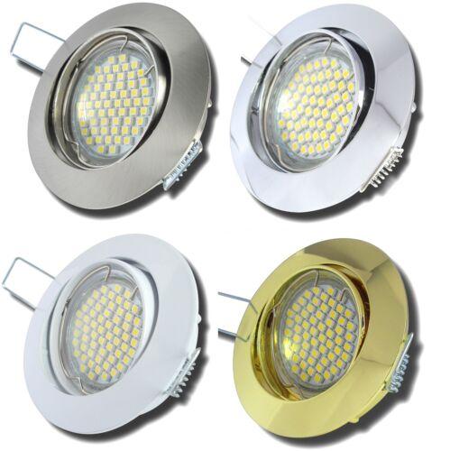3Watt SMD Power LED 9er Set LED Einbaustrahler Jan 230V GU10 Einbauleuchte