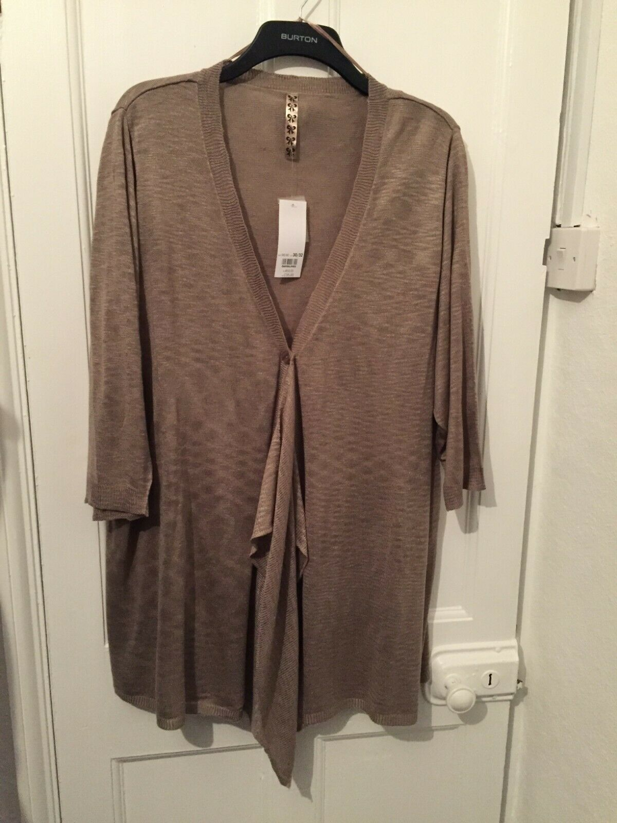 Evans Neutral 3 4 Length Sleeved Cardigan Size 26 - 28 (BNWT) Brand NEW With Tag