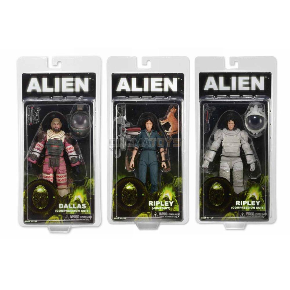 Alien set 3 Action Figures Aliens Sigourney Weaver 2 Ellen Ellen Ellen Ripley + Dallas NECA c4e86b