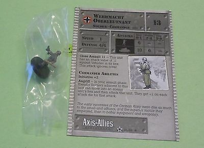 Axis /& Allies Set 2 II Wehrmacht Oberleutnant with card 35//45