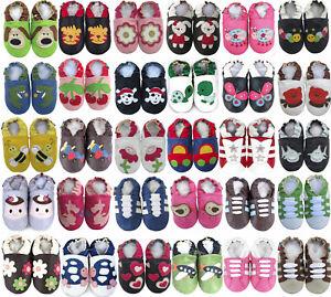 Shoeszoo bébé / enfant semelle souple chaussures en cuir crèche chaussons