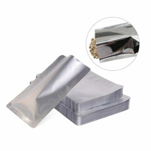 100Pcs Aluminum Foil Mylar Bags Vacuum Sealer Food Storage Sealing Package Pouch