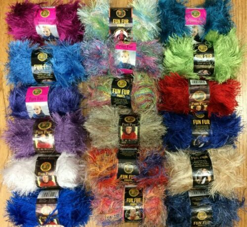 Lion Brand Fun Fur eyelash~35+ color choices~40 to 50gram each~Buy 6 for 15% off