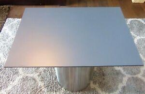 HPL Platte Tischplatte 8mm Steel Grey beidseitig 802 x 642 mm TRESPA® Meteon®