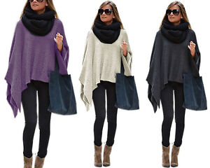 Details about Elegant Womens Poncho Ladies Sweater Knitted Poncho Fluffy Cape (628) show original title