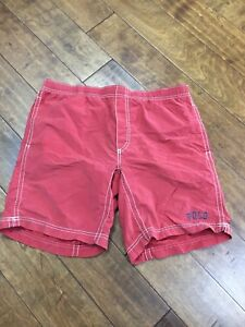 f4553bdbd9 Vintage Polo Sport Ralph Lauren Swim Trunks Men's L Red Spelled Out ...