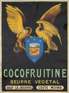 Original-Vintage-Poster-French-Cappiello-Cocofruitine-Butter-Birds-1912
