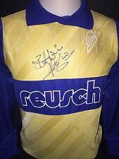 Signed Rare Peter Shilton Reusch Retro Goalkeeper Shirt England
