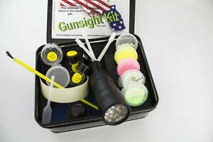 Details About Gun Sight Deluxe Kit Glow In The Dark Night Sights Sight Marker Paint Christmas