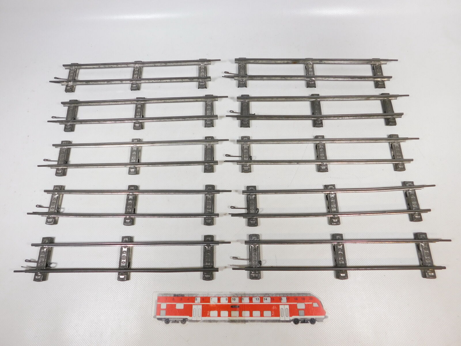 CB125-1 10x Märklin Traccia 0 0 0 Binario   Pezzo Pista Dritto (26 cm) per b9fb1a