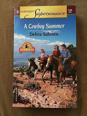 2004 A Cowboy Summer Debra Salonen Paperback Book Harlequin Romance Novel Ranch