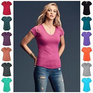 Womens-Ladies-V-Neck-T-Shirt-Dolman-Short-Sleeve-Top-Tee-T-Shirt-Vee-Neck-Soft