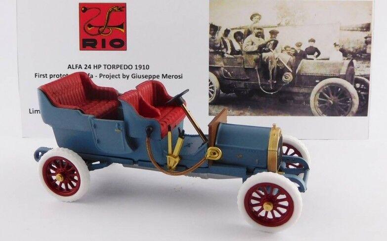 Rio 4567 –Alfa Romeo 24HP Torped 1er prödotyp Merosi 1910  43