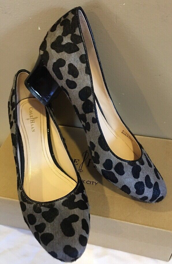 COLE HANN CHELSEA LOW FLAROSSO HEEL HAIR CALF SIZE PUMP SIZE CALF 6.5B 6f5705