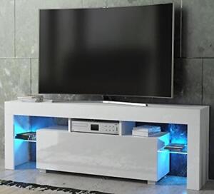 Image Is Loading Matt And White Modern High Gloss Tv Unit