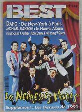 Revue BEST Janvier 1992 Négresses Vertes Daho Michael Jackson Queen