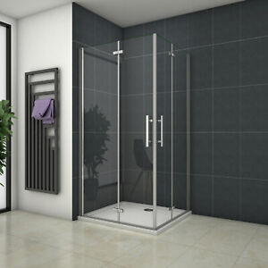 90x80x195cm Duschabtrennung Duschtür Drehfalttür Duschkabine Eckeinstieg Dusche