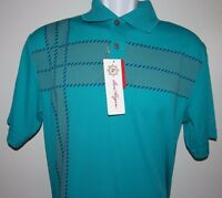 Ben Hogan Mens 100% Polyester Green Polo T-shirt Sz S & M Sale Free Shipping