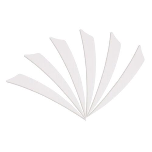 "50//100pcs 5/"" Archery Arrow Fletchings Right Wing Shield Shape Turkey Feather"