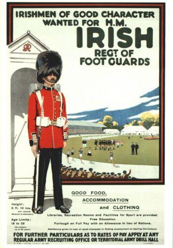 Vintage Irish Guards Recruitment  Poster A3//A2 Print